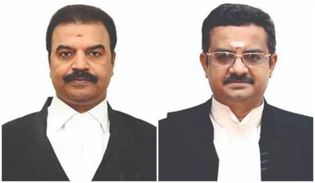judges mahadevan and audikesavalu