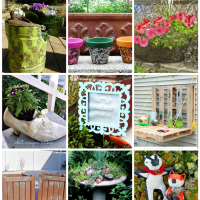 DIY Garden Planters and DIY Garden Art