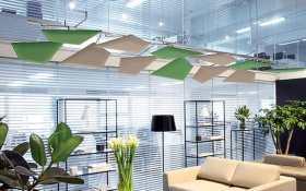 Akoestische kantooroplossingen aan het plafond