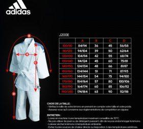 Todos los tamaños de judogi Adidas