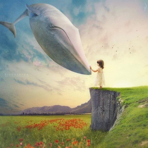 кит и девочка