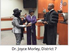 Dr. Joyce Morley | Board Members Take Oath of Office