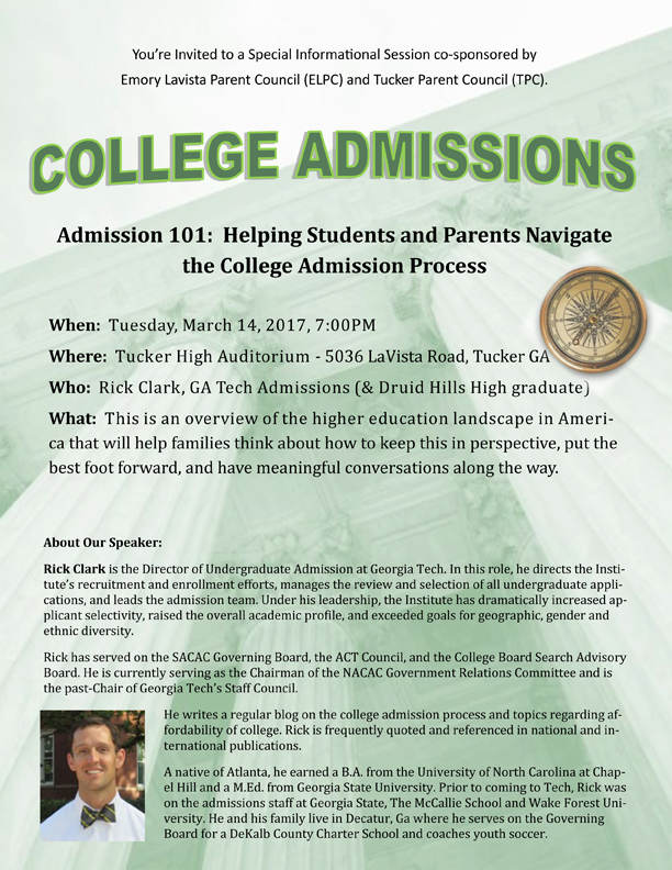 College Admissions Informational – DeKalb County School District