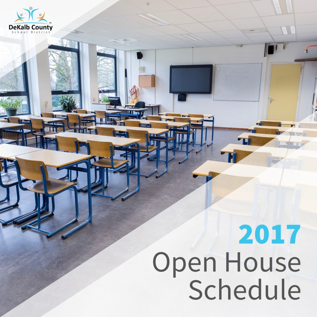 2017 Open House Schedule