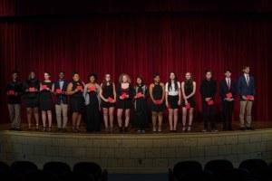 Druid Hills Saga students on stage