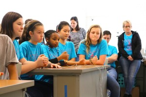 reading bowl team holds buzzers