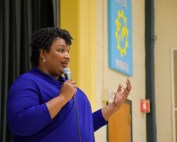 Stacey Abrams Visits Midvale Elementary