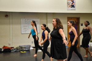Anna Dunn teaches dance