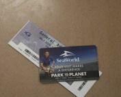 SeaWorld tickets on table