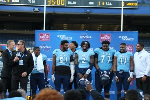 Cedar Grove football champions on stage 2019