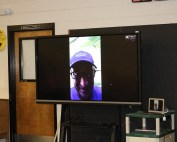 SeaWorld employee on video call