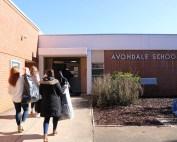 Salesforce employees walk in avondale elementary