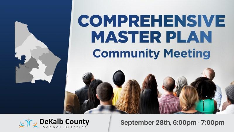 comprehensive master plan community meeting flyer