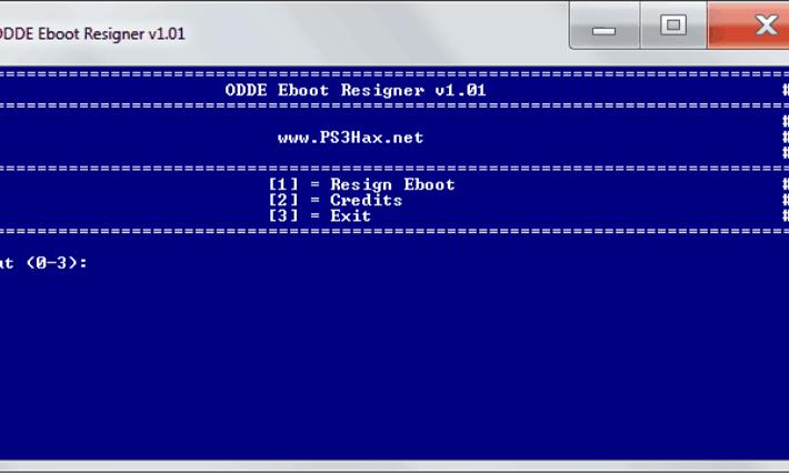 ODDE Eboot Resigner