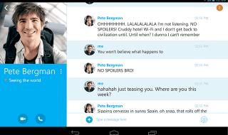 Skype para Android se actualiza con un nuevo look para tablets
