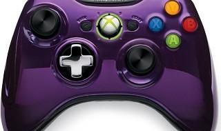 La serie de mandos cromados de Xbox 360 se amplía con el negro y el púrpura