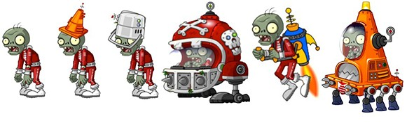PvZ 2 Far Future Zombies Line