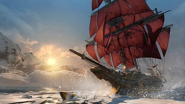 Assassins_Creed_Rogue_Icesheet-breaking-sunset