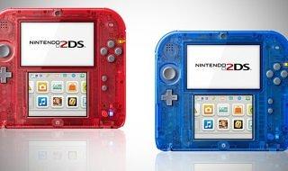 Nuevas Nintendo 2DS transparentes en rojo y azul a la venta el 7 de noviembre