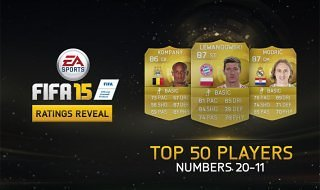 Los 50 mejores jugadores de FIFA 15: Hoy del 20 al 11