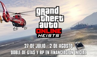 Doble RP y GTA$ en Financiación inicial de GTA Online