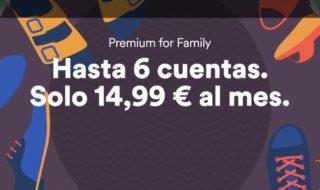 El plan familiar de Spotify pasa a costar 14,99€ al mes para hasta 6 personas