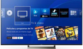 Sony unifica la experiencia de cine, tv y series de PS4