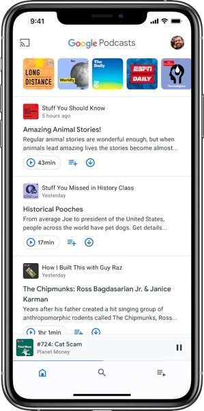 Google Podcasts - Home