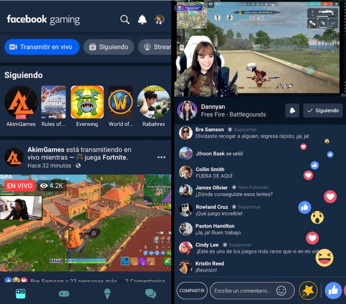 Facebook Gaming - App Android