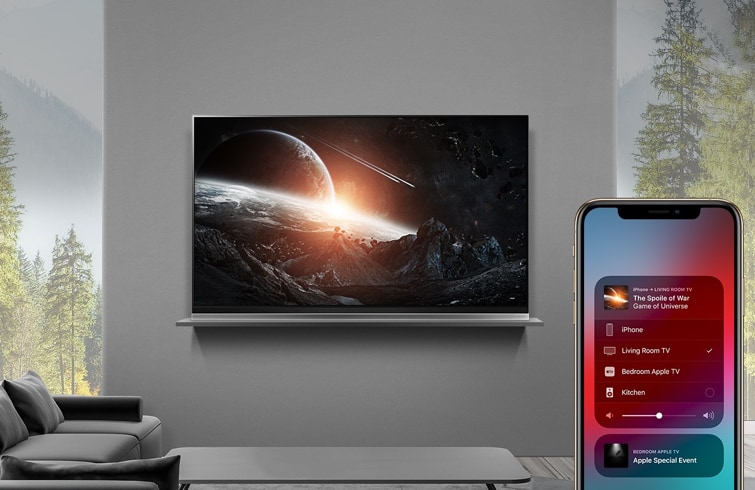 Smart TV LG with AirPlay 2