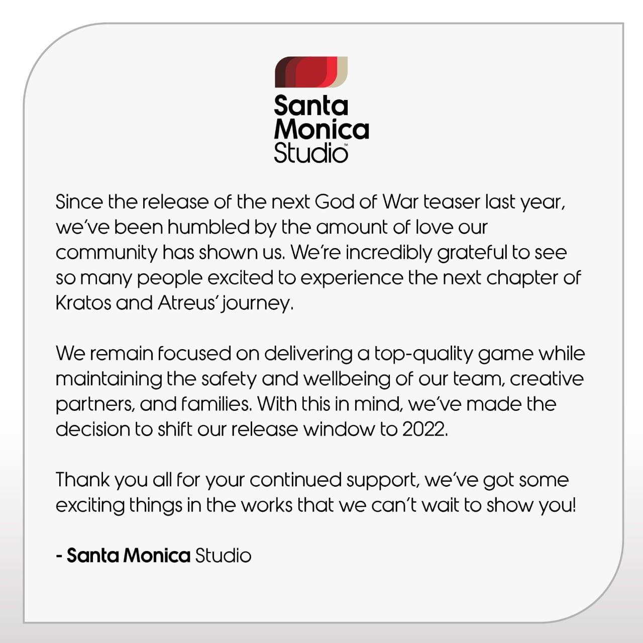 Santa Monica Studio - retraso God of War