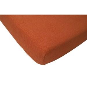 Jollein Hoeslaken badstof 60x120cm oranje