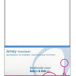 Briljant Hoeslaken Jersey 70x140/150cm Wit