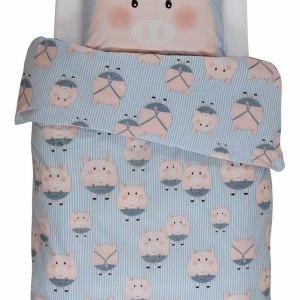 Covers & Co Dekbedovertrek Piggy