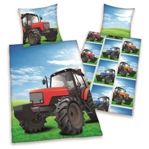 Jongens Dekbedovertrek Tractor Dubbelzijdig