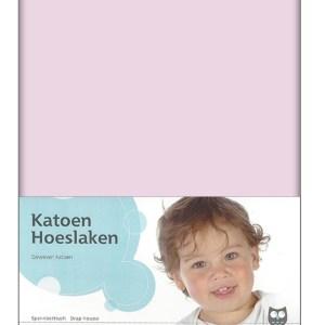 Briljant Hoeslaken Roze 60x120cm (katoen)