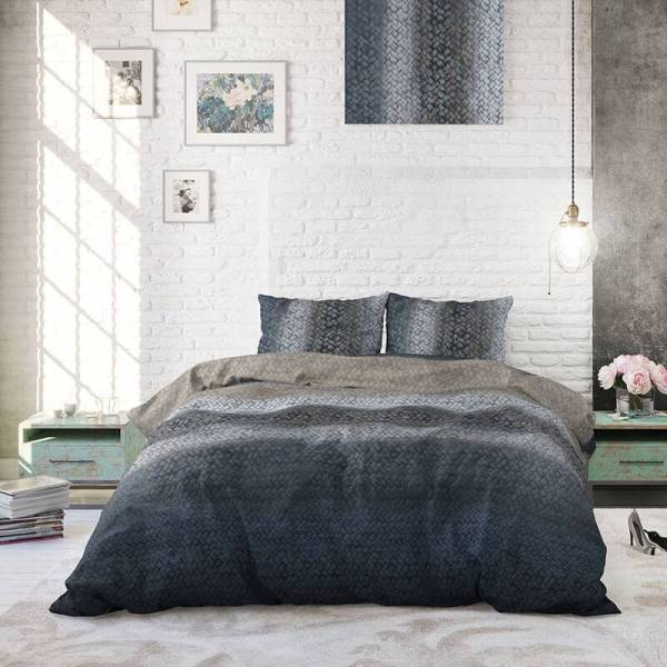 Heckett Lane Hoeslaken Percale - Donker Grijs 90 x 210/220 cm