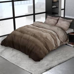 Sleeptime Elegance Snowy Deer - Verwarmend Flanel 2-persoons (200 x 200/220 cm + 2 kussenslopen) Dekbedovertrek