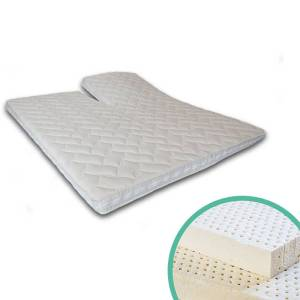 Silver Splittoppermatras Latex 6 cm 140 x 200