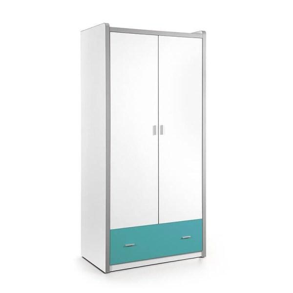 Vipack Bonny - Kledingkast 2 deurs Kleur: Turquoise