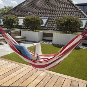 909 Outdoor Hangmat - Rood/Wit