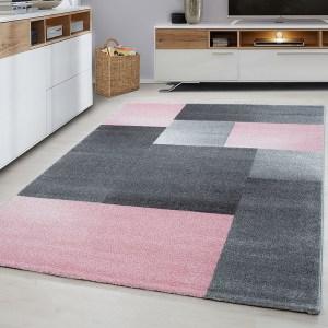Lucca Vloerkleed - Blocks - Roze 160 x 230 cm