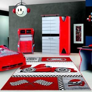 Kids Vloerkleed - Grand Prix - Rood 160 x 230 cm