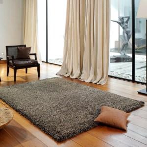 Vloerkleed Lobby Shaggy - Donkerbruin 160 x 230 cm