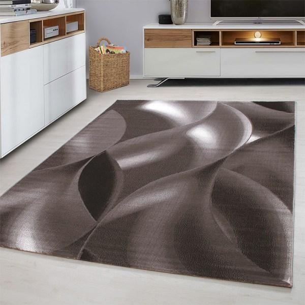 Vloerkleed - Wavey - Rechthoek - Bruin Plus Patroon 80 x 150 cm - Ga naar Dekbed-Discounter.nl & Profiteer Nu