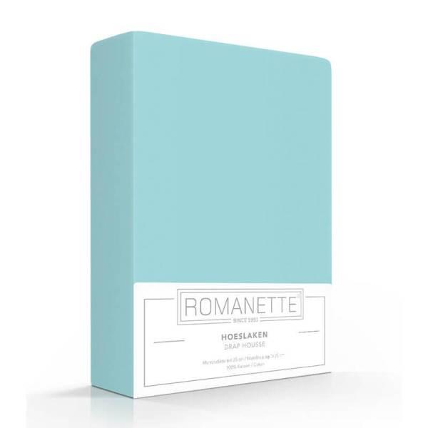 Luxe Verkoelend Hoeslaken Katoen - Aqua Romanette 80 x 200 - Ga naar Dekbed-Discounter.nl & Profiteer Nu