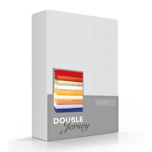 Romanette Luxe Dubbel Jersey Hoeslaken - Zilver 180 x 200/210/220 cm