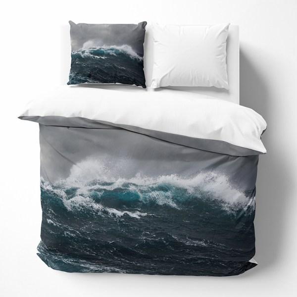 Dekbedovertrek Deep Ocean 1-persoons (140x200/220 cm) - KatoenKatoen-satijnKatoen - Natuur - Blauw