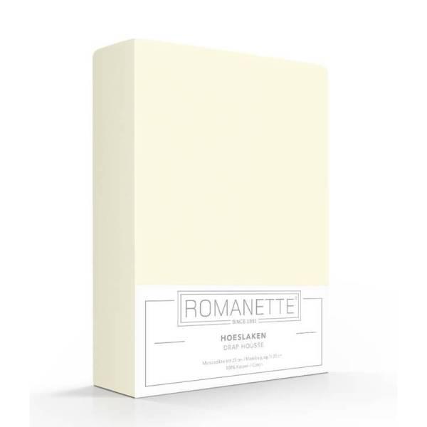 Romanette Luxe Verkoelend Hoeslaken Katoen - Ivoor 90 x 220