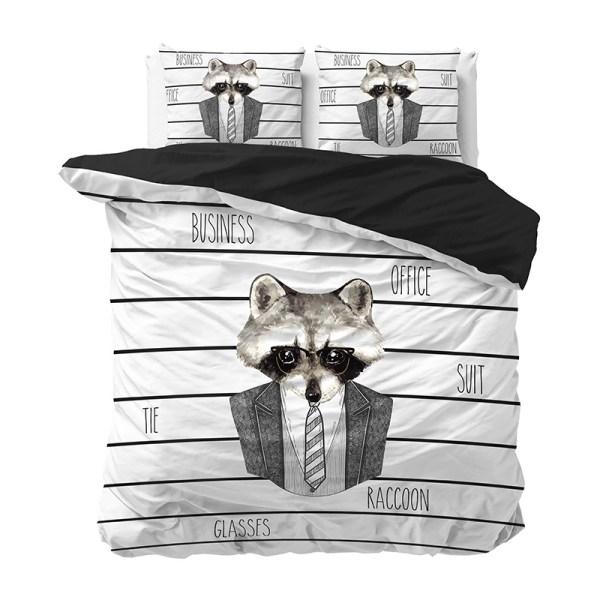 Dekbedovertrek Business Raccoon - 1-persoons (140x220 cm) - Katoen - Strepen